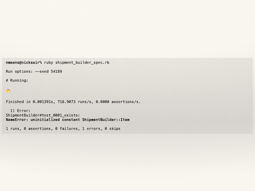 nmeans@nicksair% ruby shipment_builder_spec.rb ...