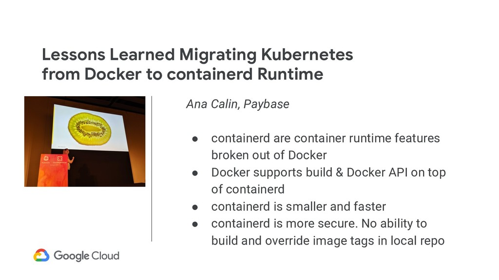 Lessons Learned Migrating Kubernetes from Docke...