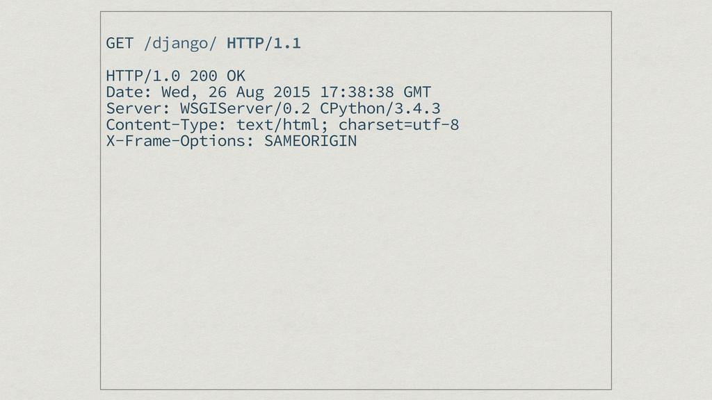 GET /django/ HTTP/1.1 HTTP/1.0 200 OK Date: Wed...