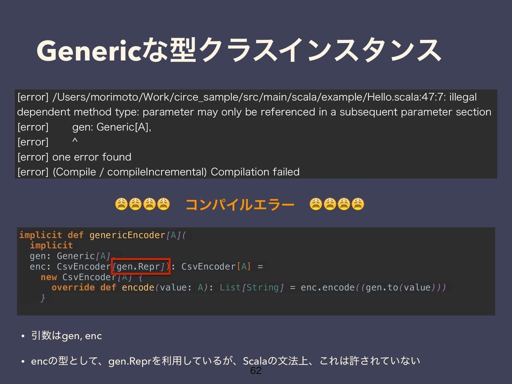 implicit def genericEncoder[A]( implicit gen: G...