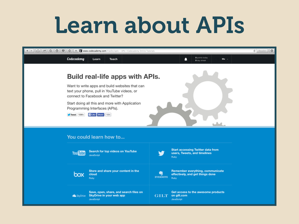 Learn about APIs