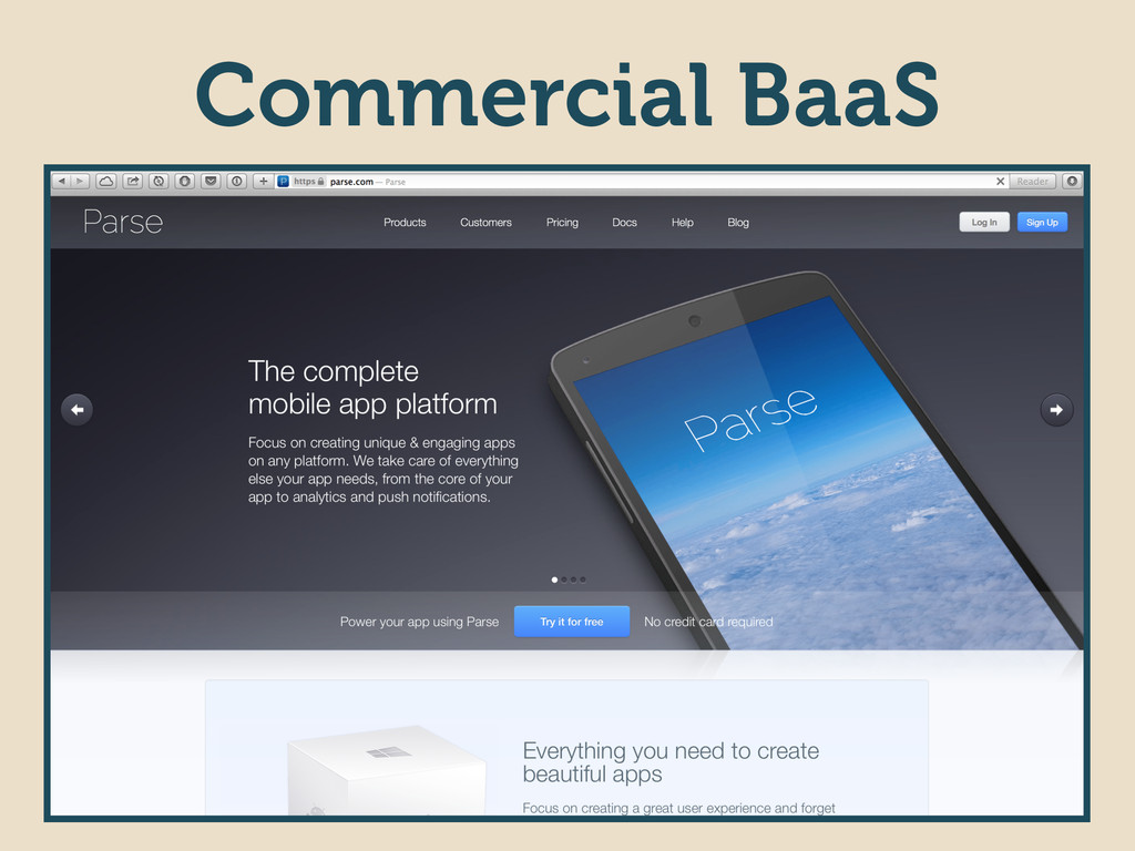 Commercial BaaS