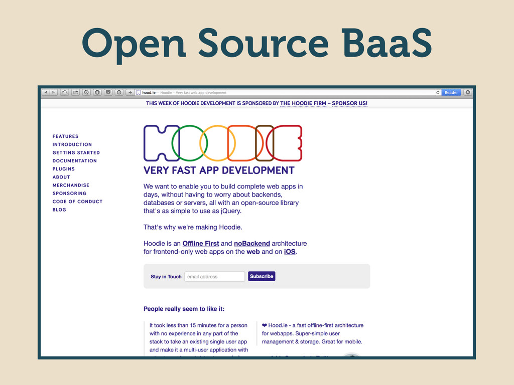 Open Source BaaS