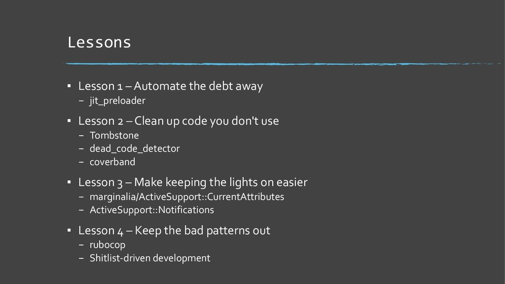 Lessons ▪ Lesson 1 – Automate the debt away – j...