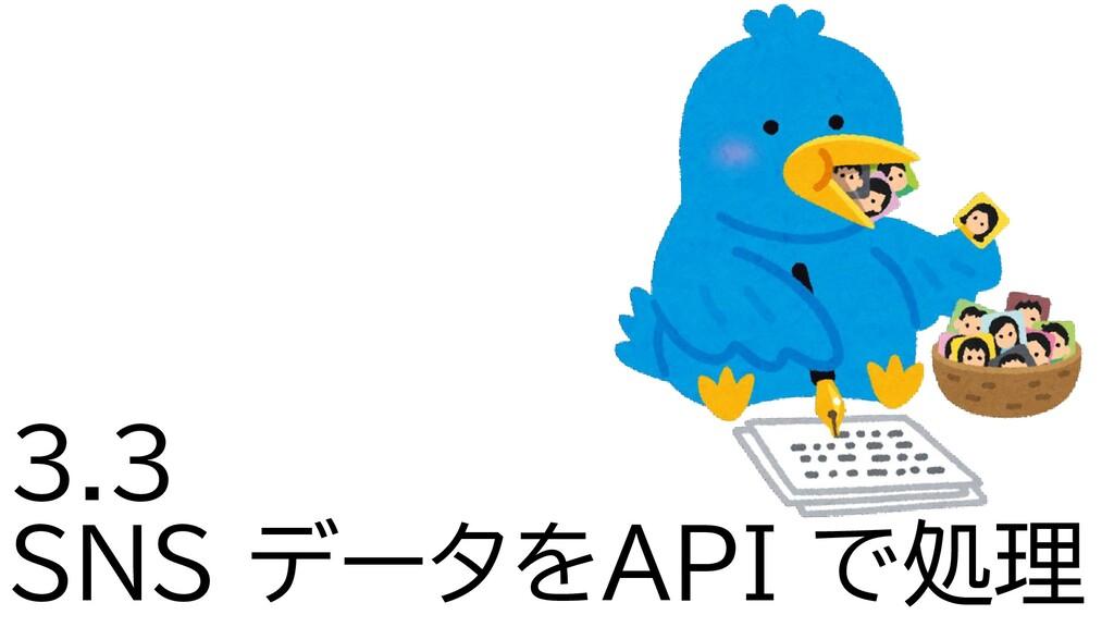 3.3 SNS データをAPI で処理