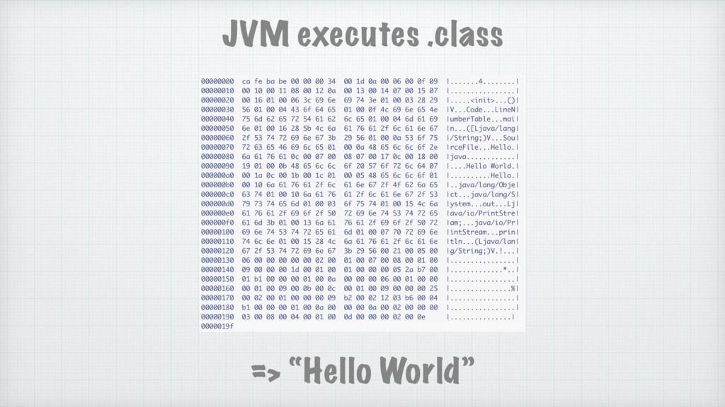 JVM executes .class 00000000 ca fe ba be 00 00 ...
