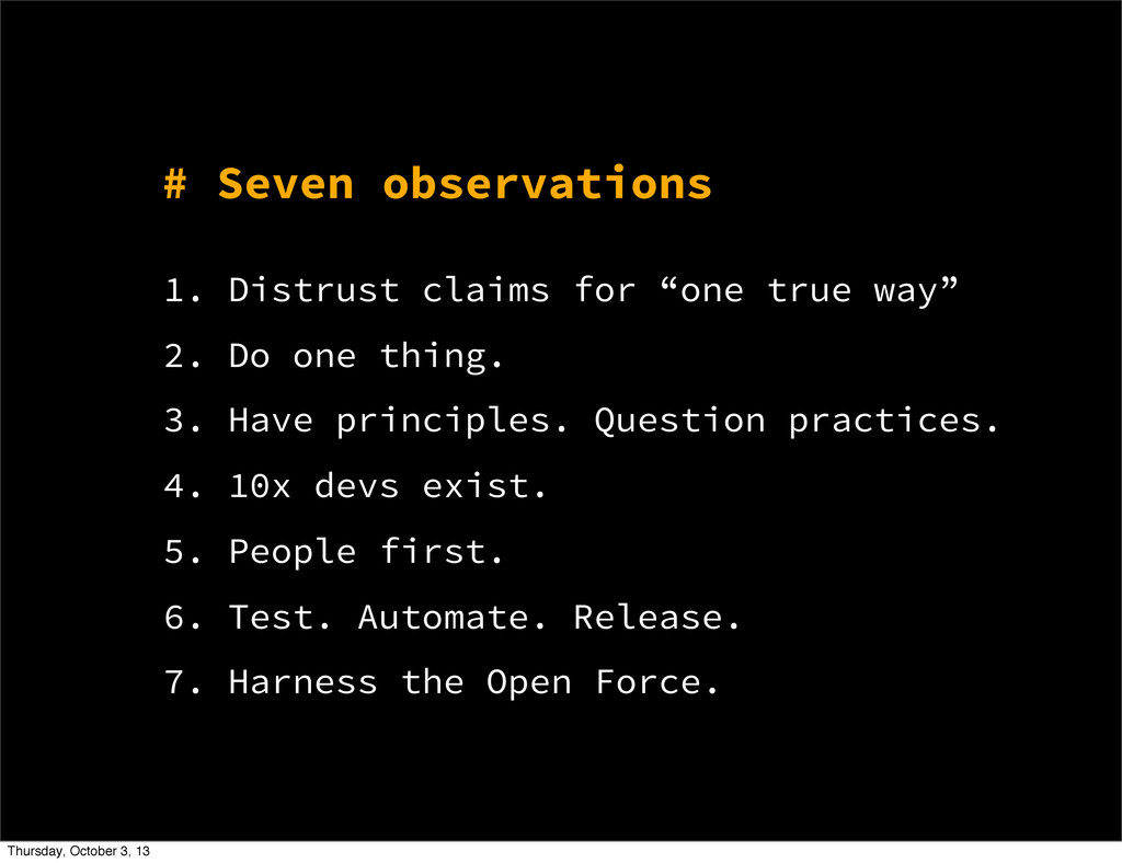 """# Seven observations 1. Distrust claims for """"on..."""