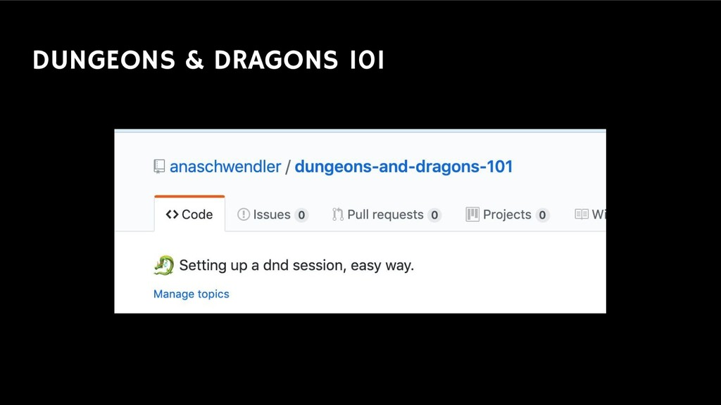 DUNGEONS & DRAGONS 101