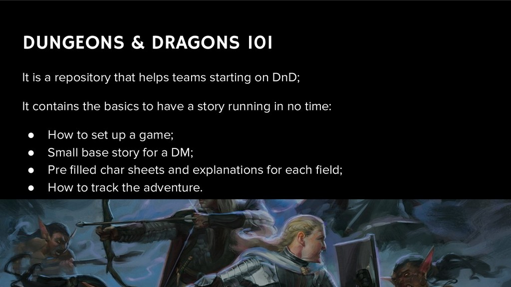 DUNGEONS & DRAGONS 101 It is a repository that ...
