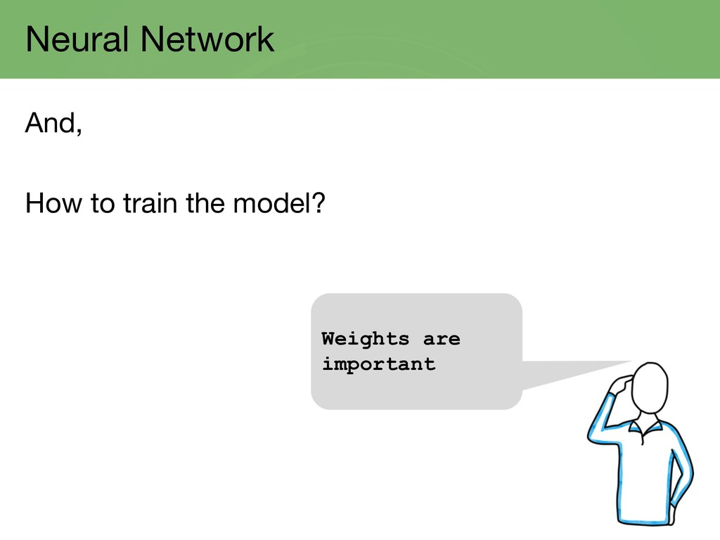 Neural Network And, How to train the model? Wei...