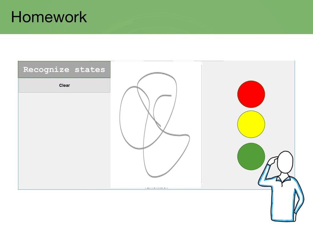 Homework Recognize states