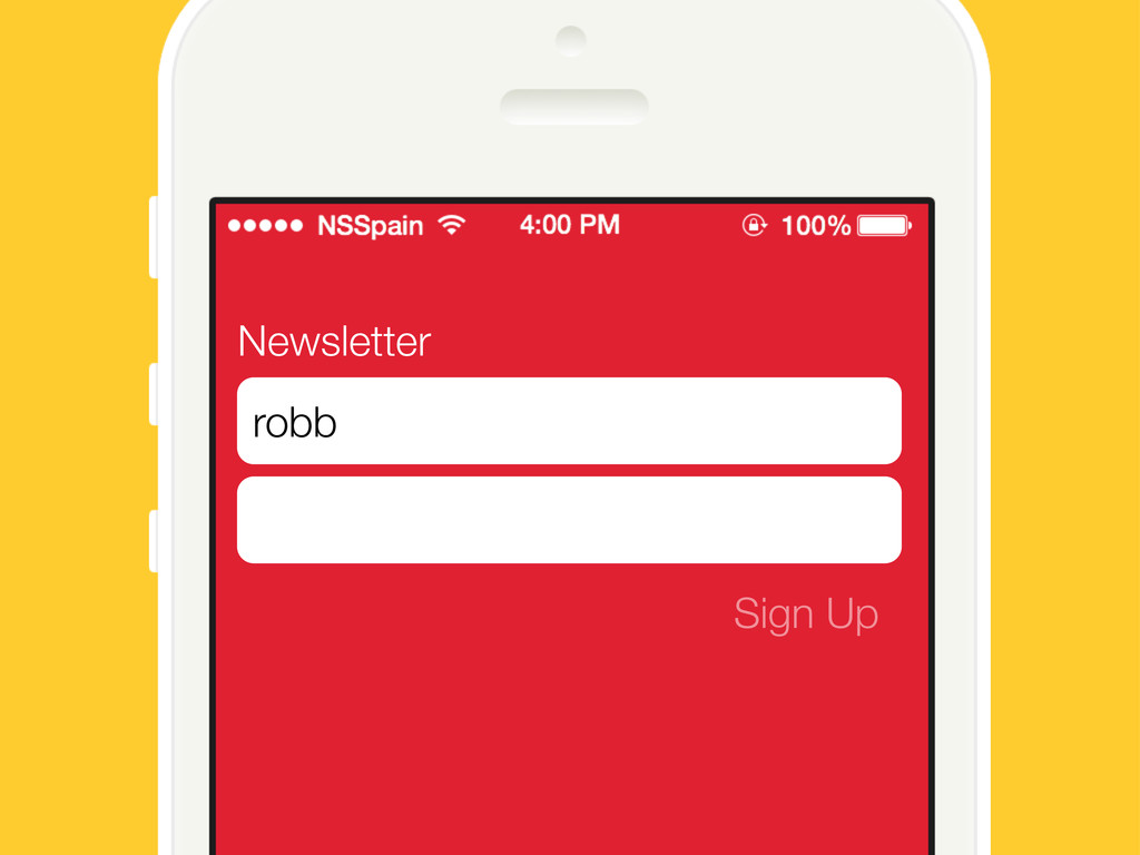 Newsletter Sign Up robb
