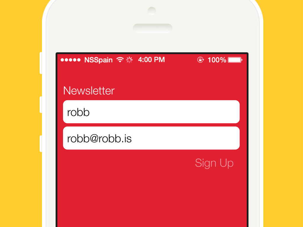 Newsletter Sign Up robb robb@robb.is