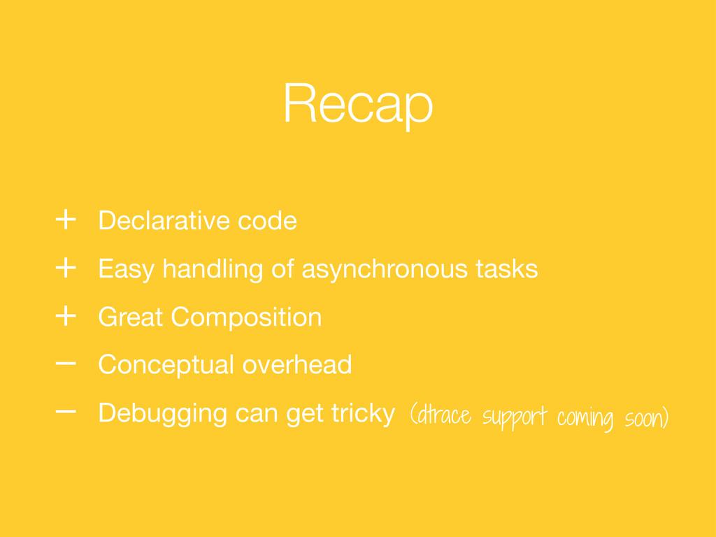 Recap (dtrace support coming soon) + Declarativ...