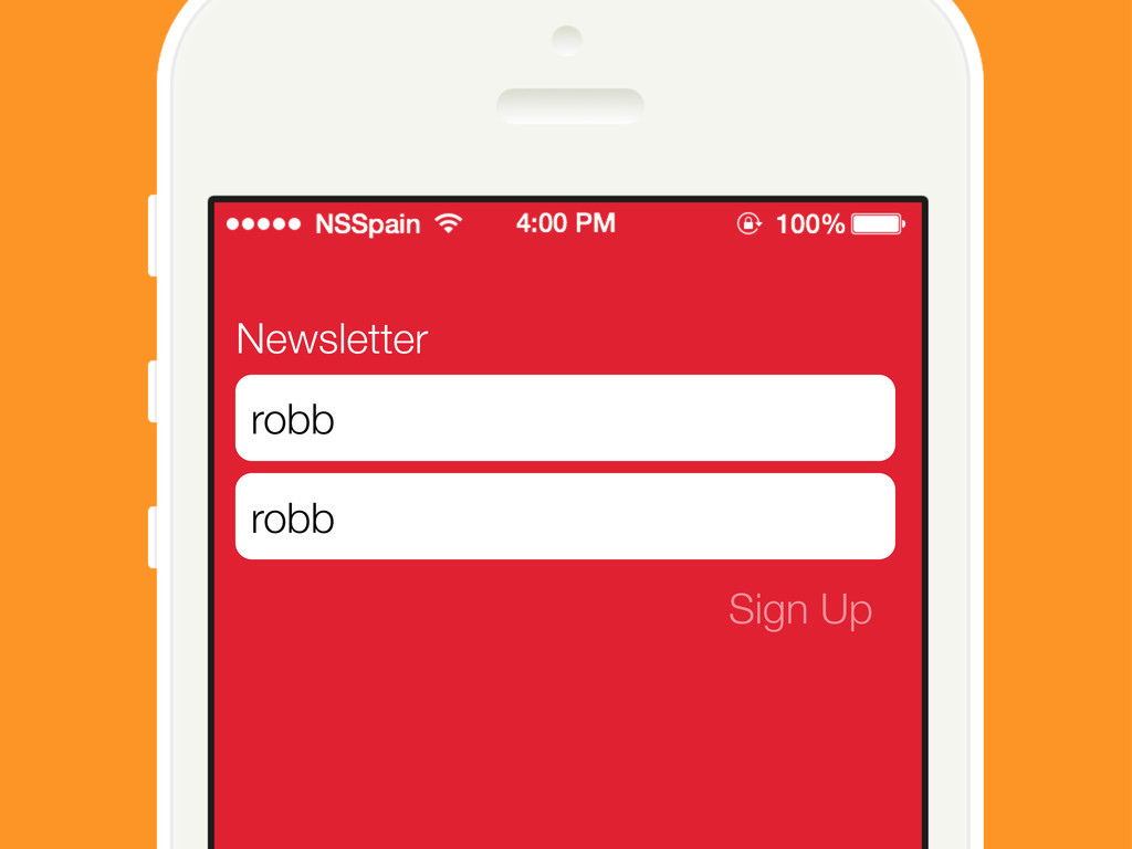 Newsletter Sign Up robb robb