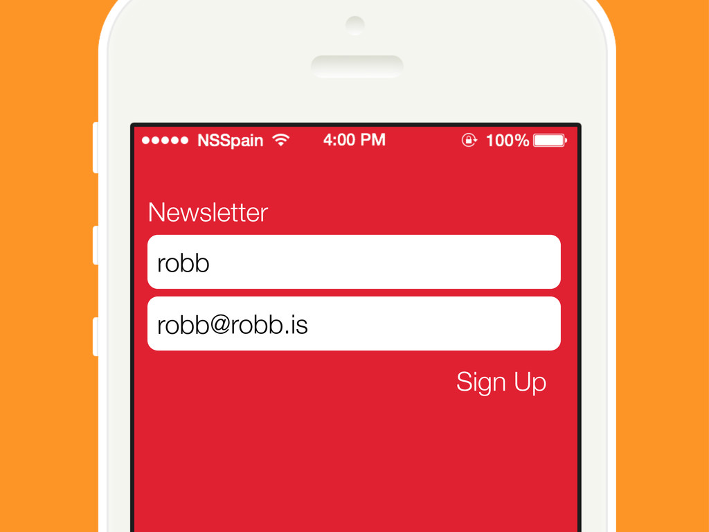 Newsletter Sign Up robb @robb.is Sign Up robb