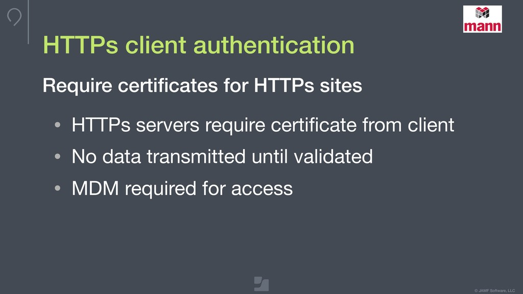 © JAMF Software, LLC HTTPs client authenticatio...