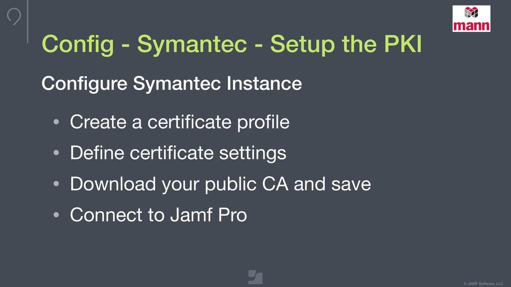 © JAMF Software, LLC Config - Symantec - Setup t...