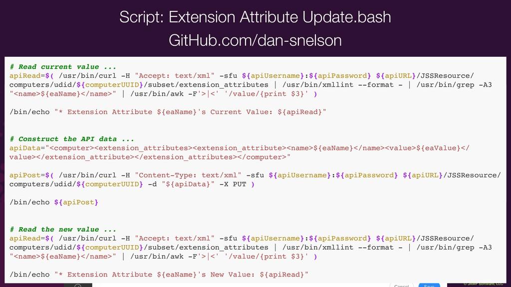 "© JAMF Software, LLC ### Variables apiURL=""http..."
