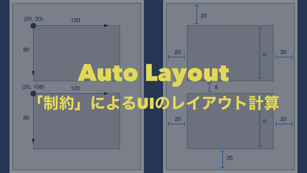 Auto Layout ʮ੍ʯʹΑΔUIͷϨΠΞτܭ
