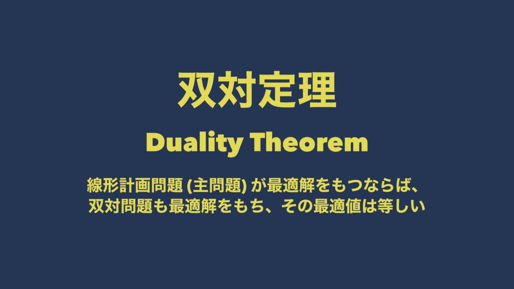 ରఆཧɹɹɹɹ Duality Theorem ઢܗܭը (ओ) ͕࠷దղΛͭͳΒ...