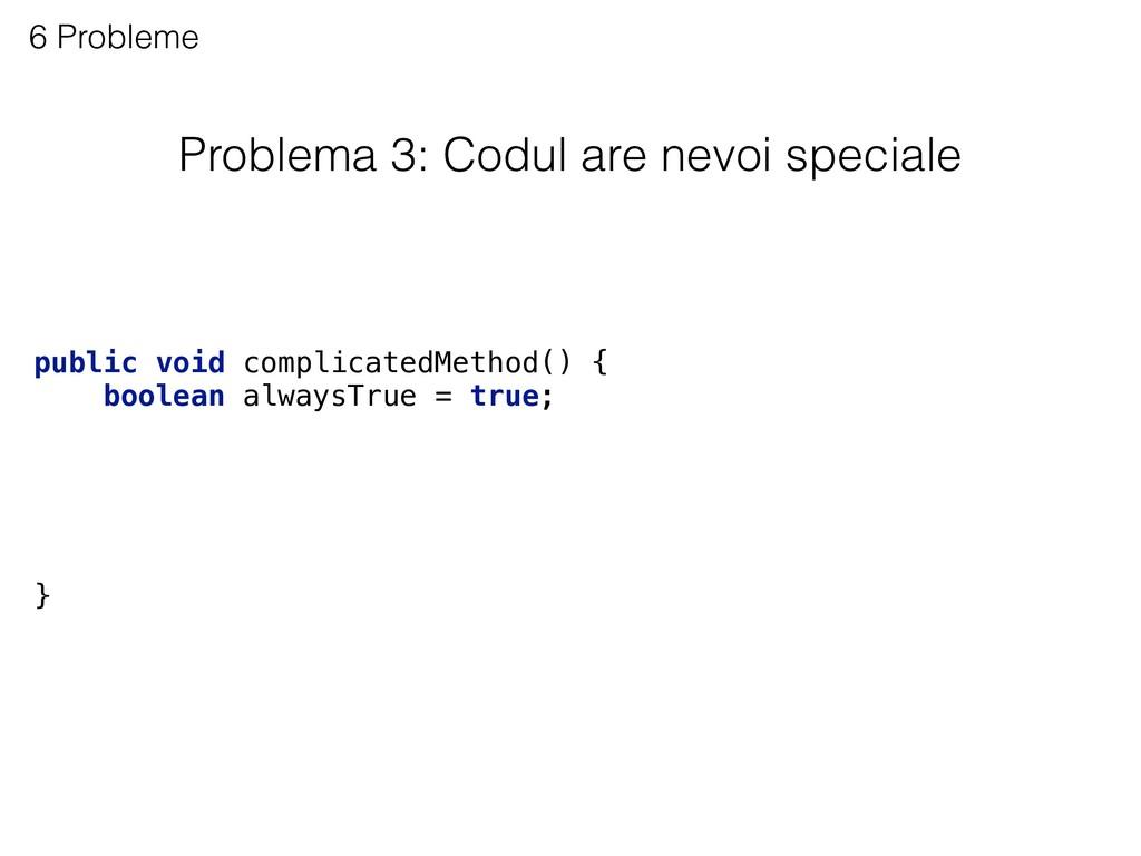 Problema 3: Codul are nevoi speciale 6 Probleme...