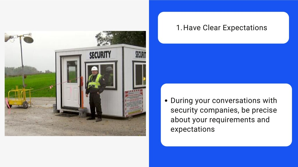 During your conversations with security compani...