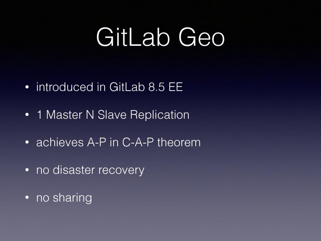 GitLab Geo • introduced in GitLab 8.5 EE • 1 Ma...