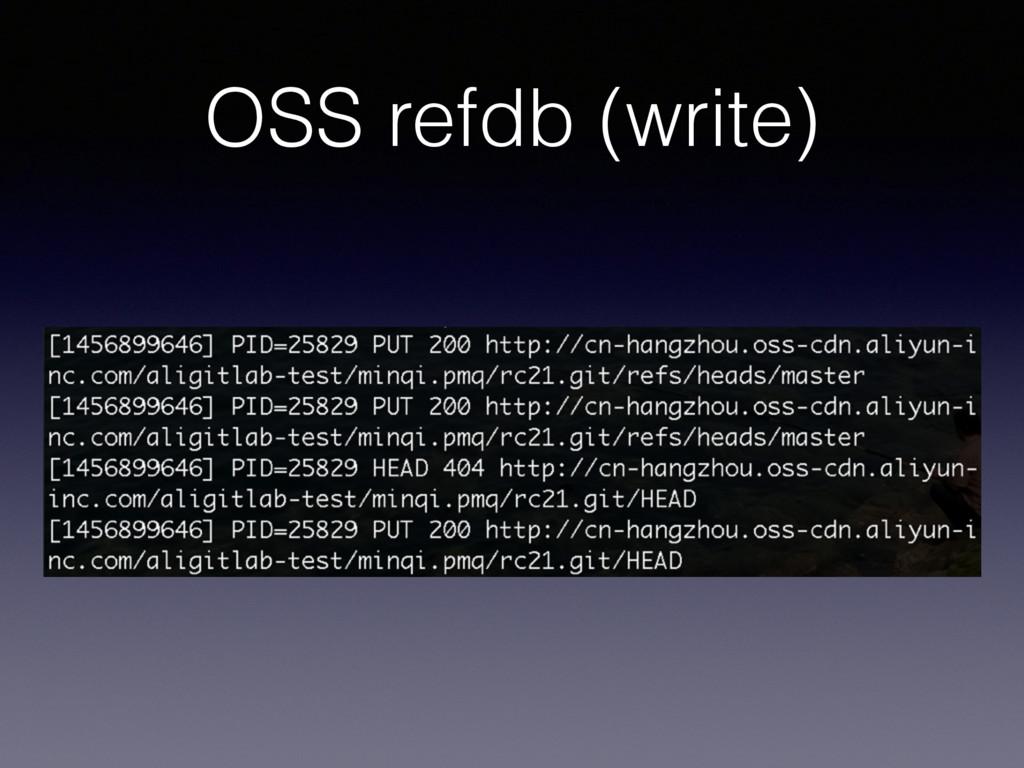 OSS refdb (write)