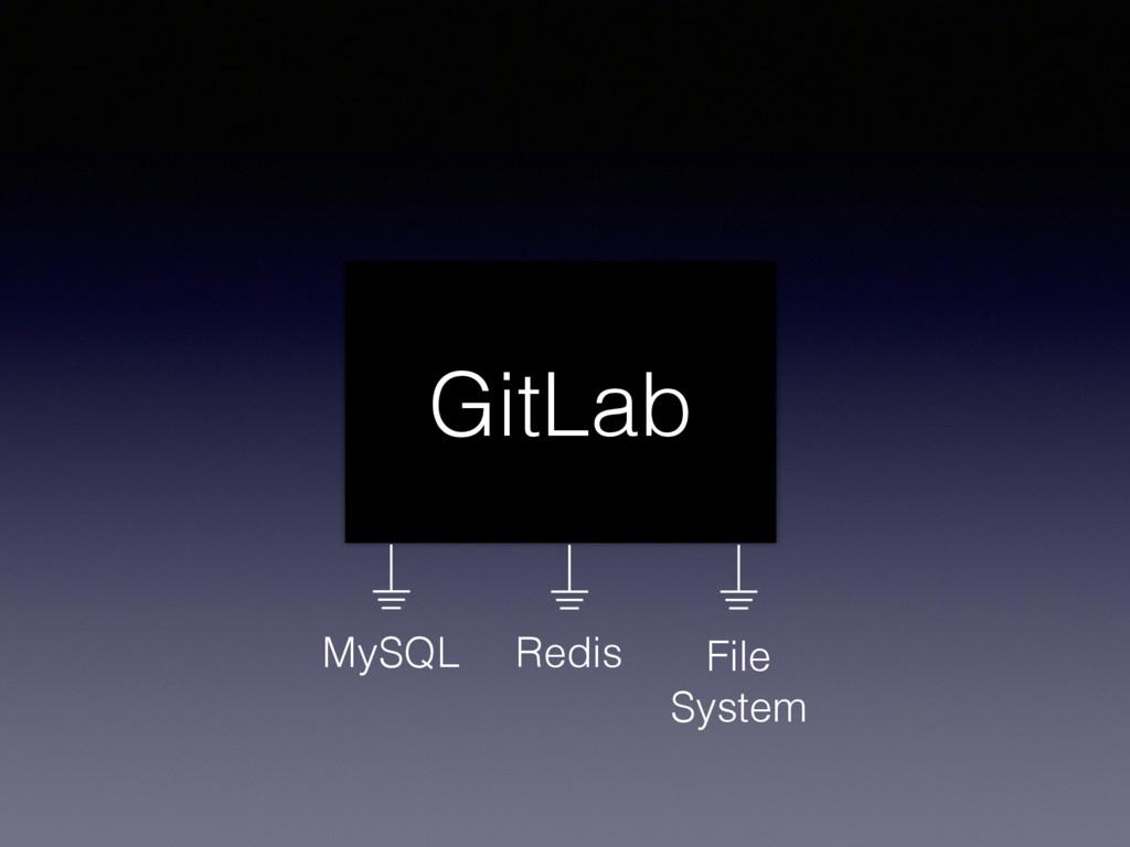 GitLab Redis MySQL File System