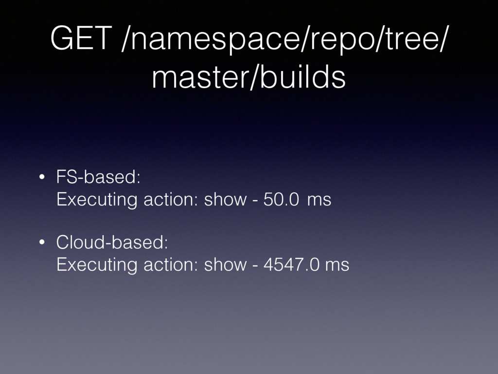 GET /namespace/repo/tree/ master/builds • FS-ba...
