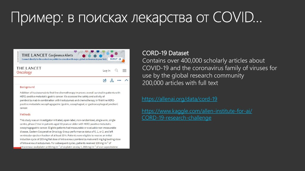 CORD-19 Dataset Contains over 400,000 scholarly...