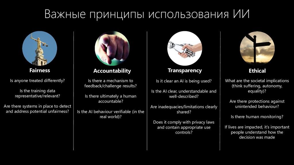 Важные принципы использования ИИ Fairness Accou...