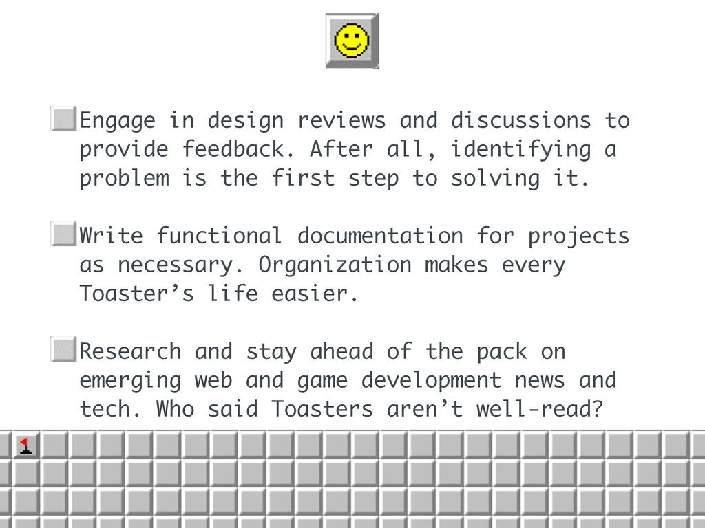 • Engage in design reviews and discussions to p...