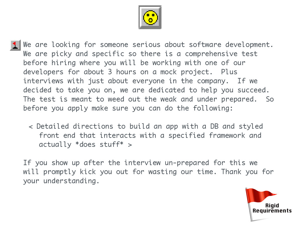 We are looking for someone serious about softwa...