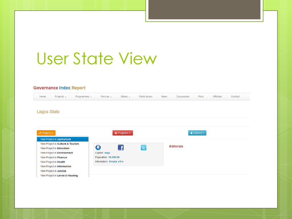 User State View