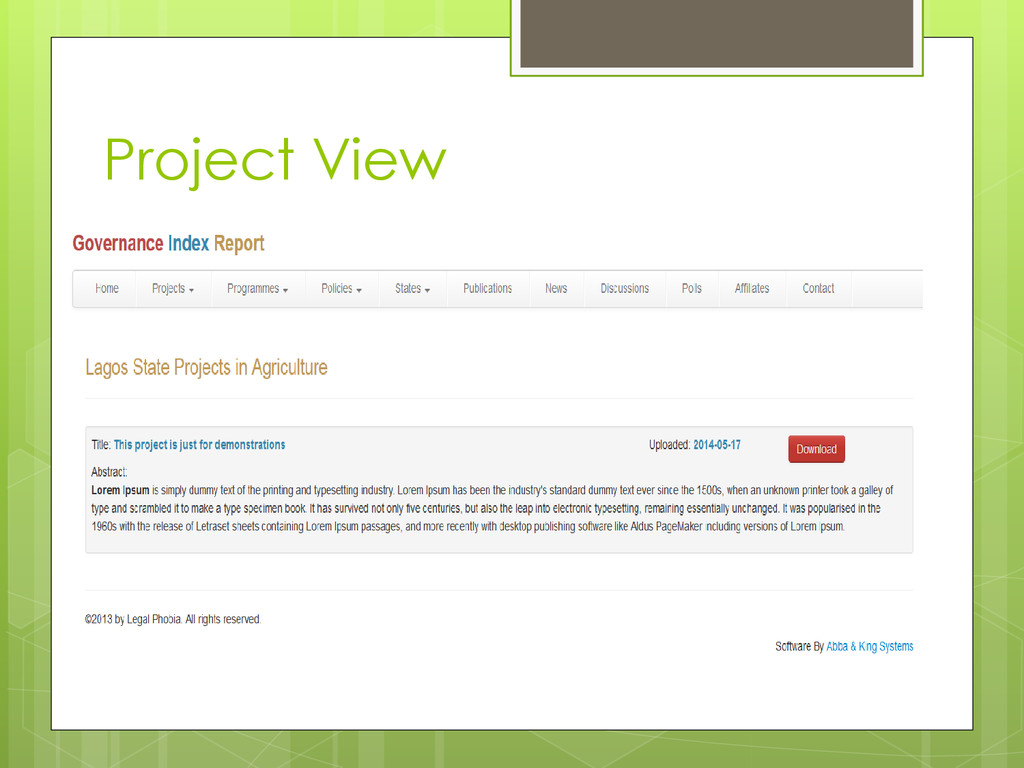 Project View