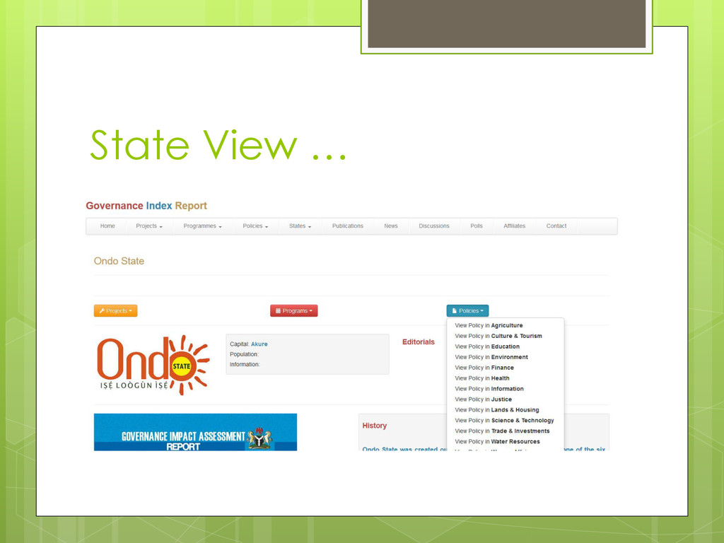 State View …