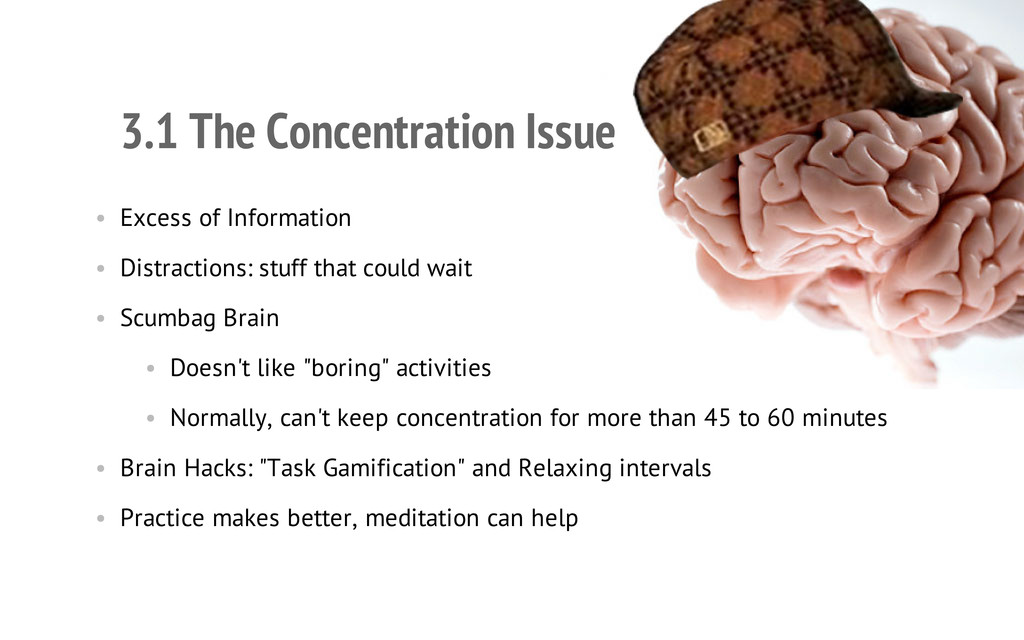 3.1 The Concentration Issue • Excess of Informa...