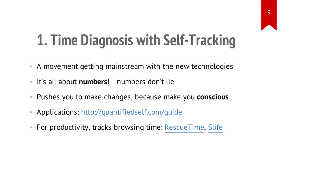 1. Time Diagnosis with Self-Tracking • A moveme...