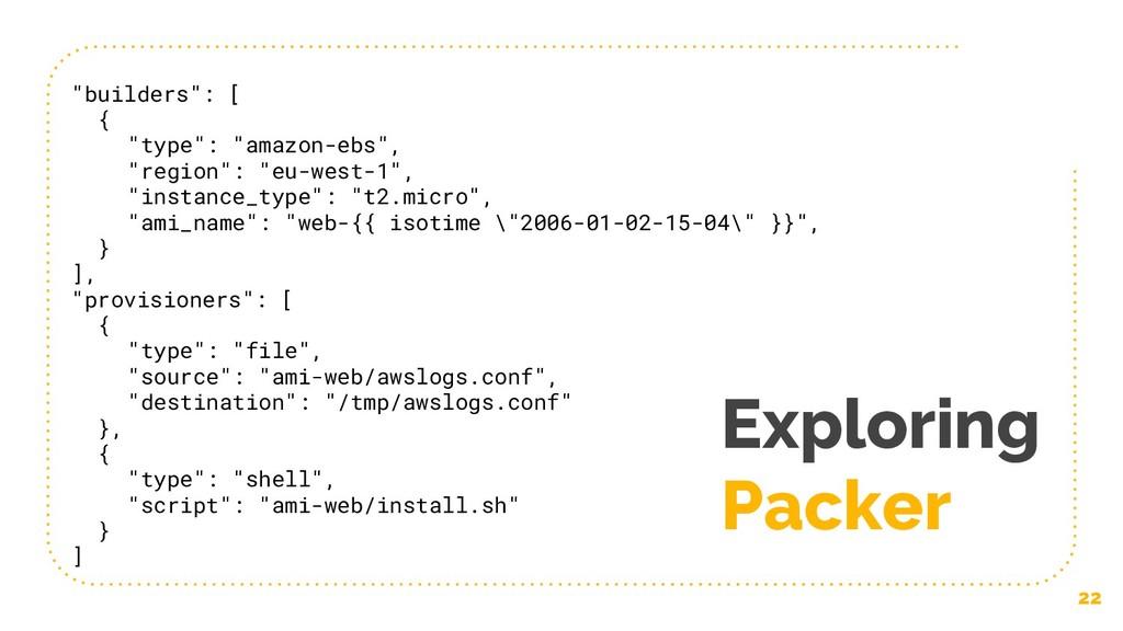 """Exploring Packer 22 """"builders"""": [ { """"type"""": """"am..."""