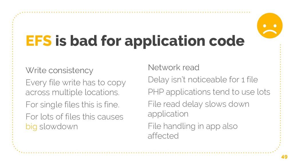 Write consistency Every file write has to copy ...