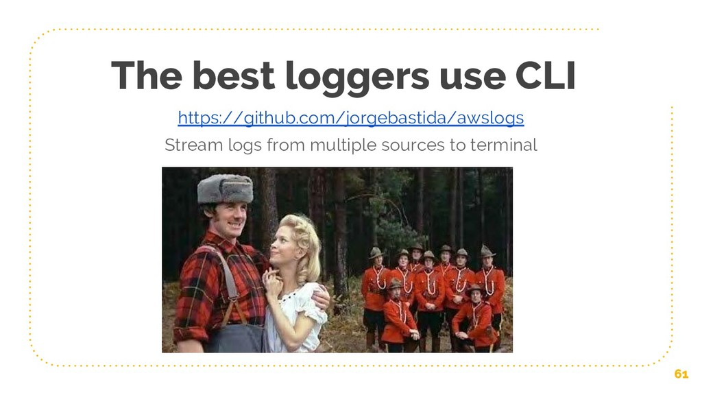 The best loggers use CLI 61 https://github.com/...
