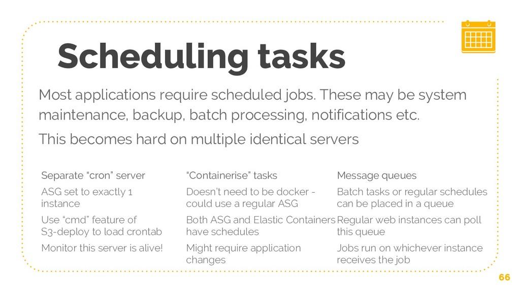 """Scheduling tasks Separate """"cron"""" server ASG set..."""