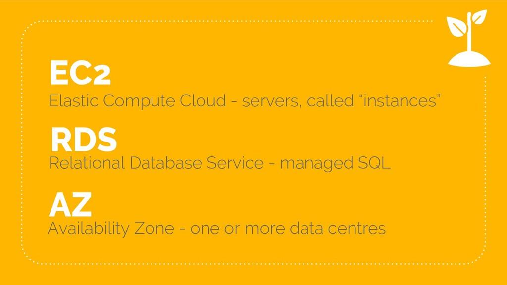 """EC2 Elastic Compute Cloud - servers, called """"in..."""