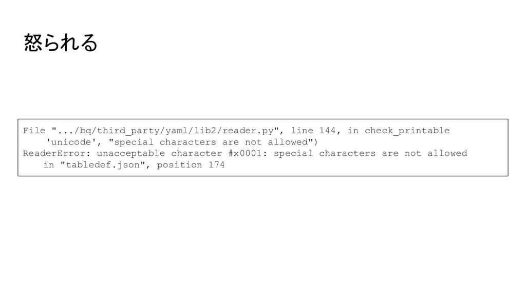 """怒られる File """".../bq/third_party/yaml/lib2/reader...."""