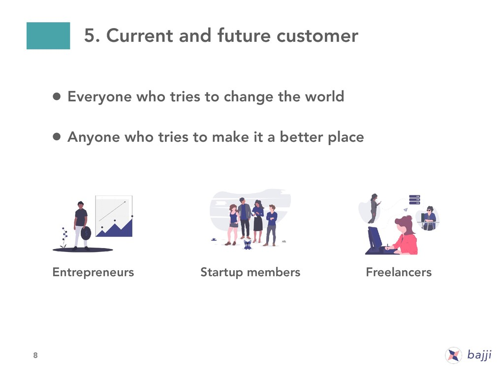 8 5. Current and future customer • Everyone who...