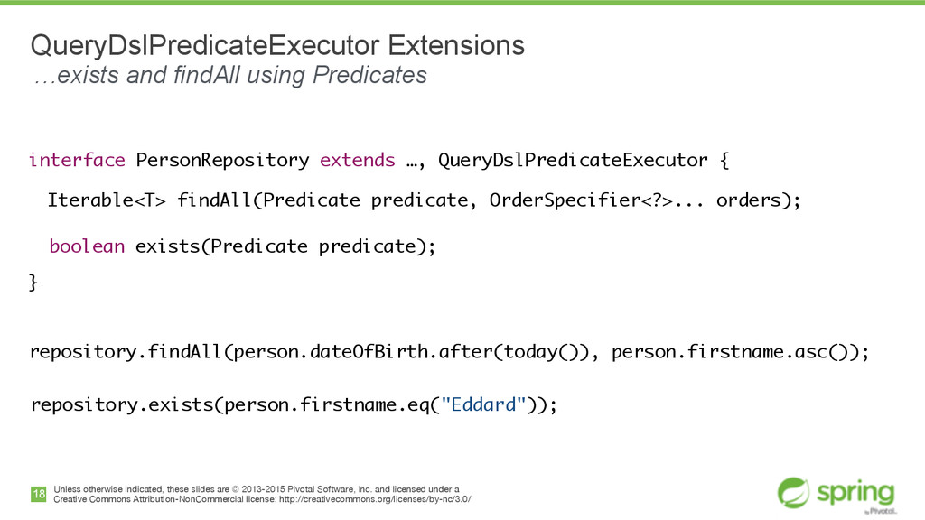 interface PersonRepository extends …, QueryDslP...