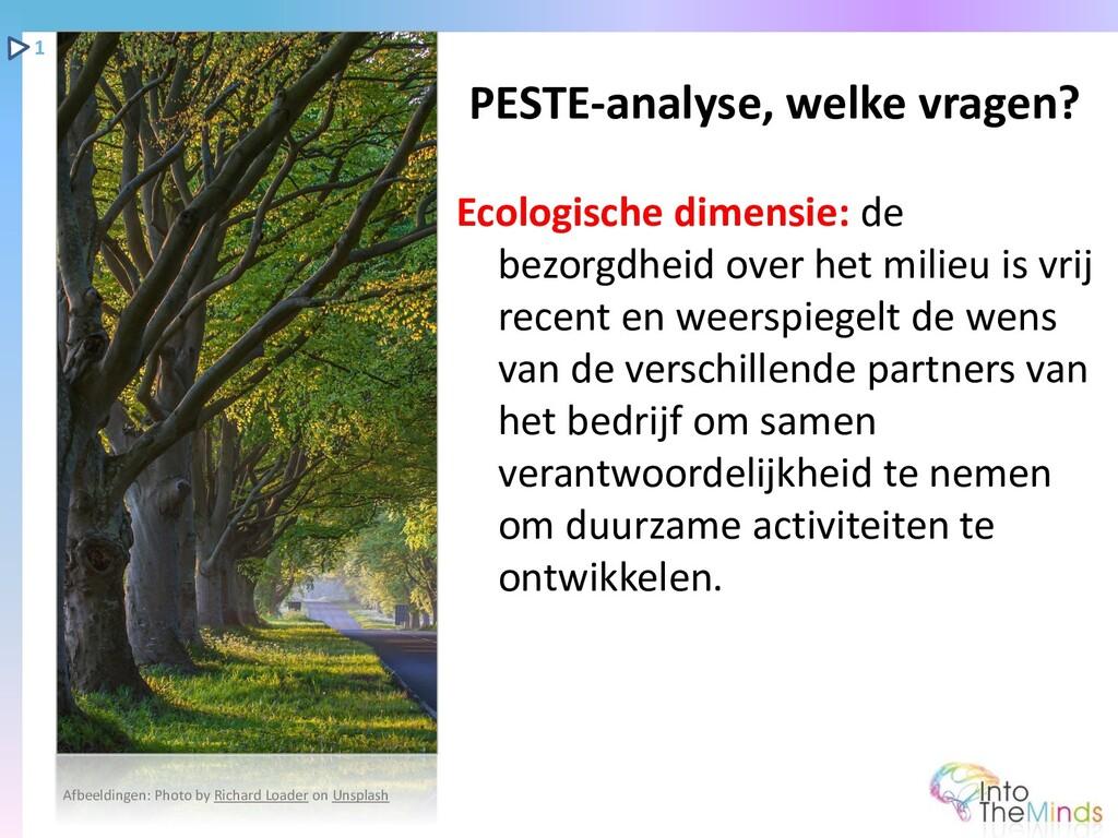 Ecologische dimensie: de bezorgdheid over het m...