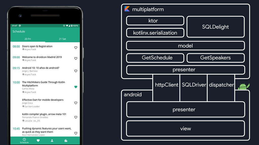 multiplatform httpClient ktor SQLDelight androi...